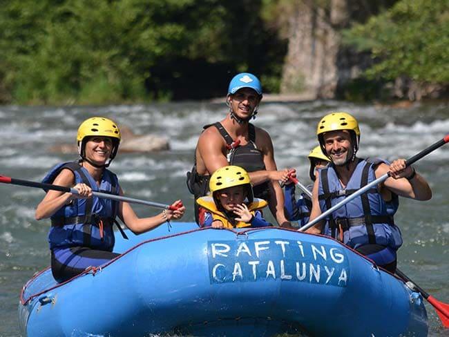 Rafting por los rios de Catalunya